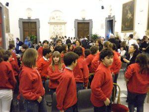 Con i ragazzi della scuola Sinopoli di Roma.