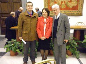 con Fulvio Crocenzi, dell'Ass. Naz. G.Garibaldi  e Gianpiero Panichelli, degli Amici di Righetto
