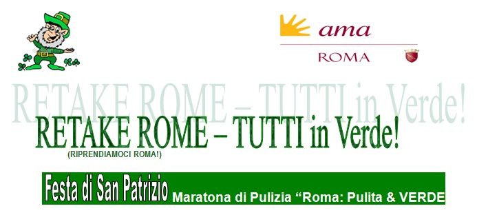 """Festa di san Pancrazio - Maratona di Pulizia """"Roma: Pulita e Verde"""""""