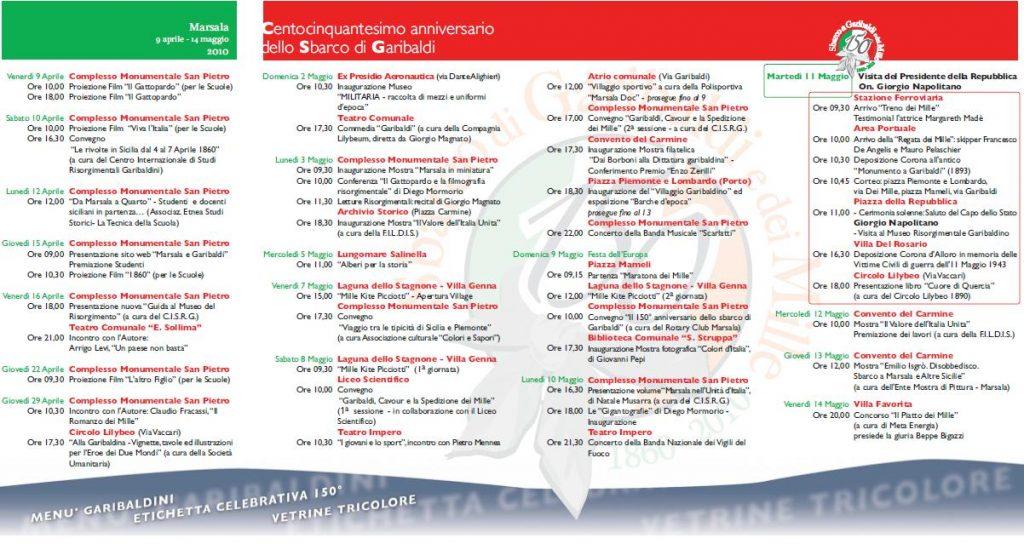 Programma Marsala 11 maggio